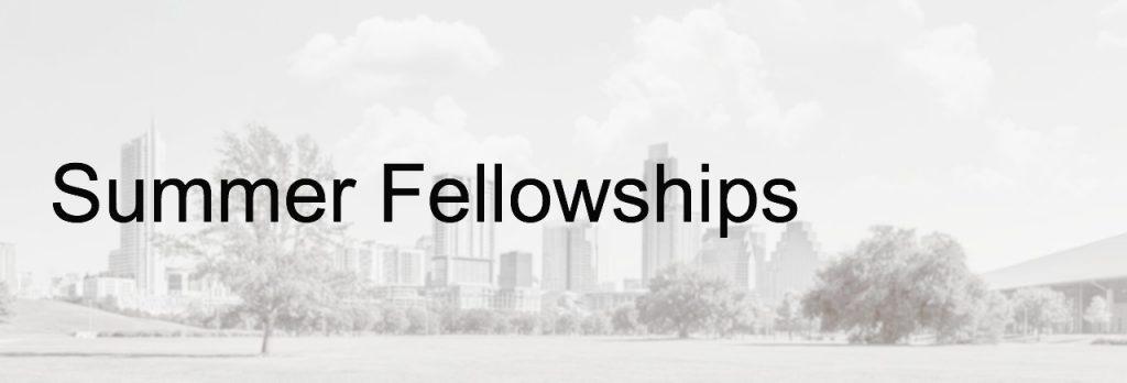 Summer Fellowships