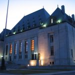 Image of Supreme Court of Canada at dusk